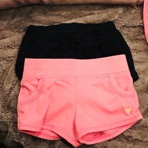 Set of 2 soft shorts. Both 18month girl.